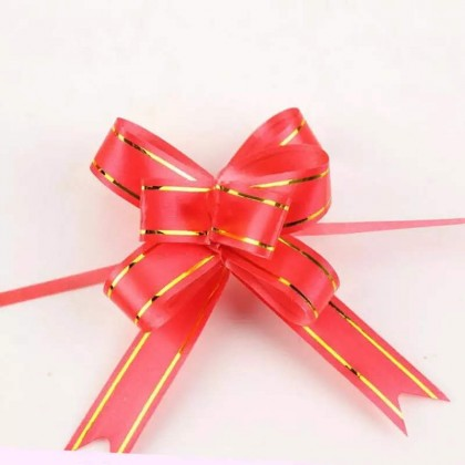 10pcs Gift Packing Pull Bow Ribbons Gift Wrapping pull Flower Ribbon 结婚婚礼拉花蝴蝶结婚庆用品红色喜字手拉花